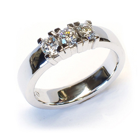Alliansering modell Paris med 3x0,25carat diamanter