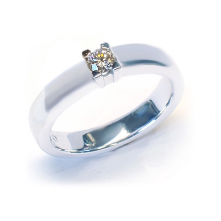 Alliansering  modell Paris med 1x0,30carat diamant