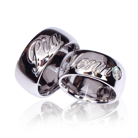 Ring 25Dame 12mm. bredde