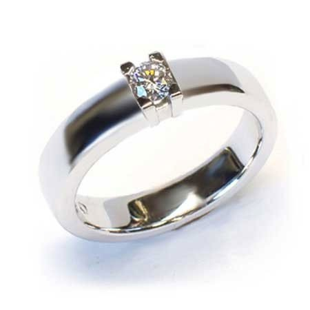 Alliansering  modell Paris med 1x0,25carat diamant